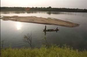 Kawasan Sungai Mekong di utara Phnom Penh, Kamboja